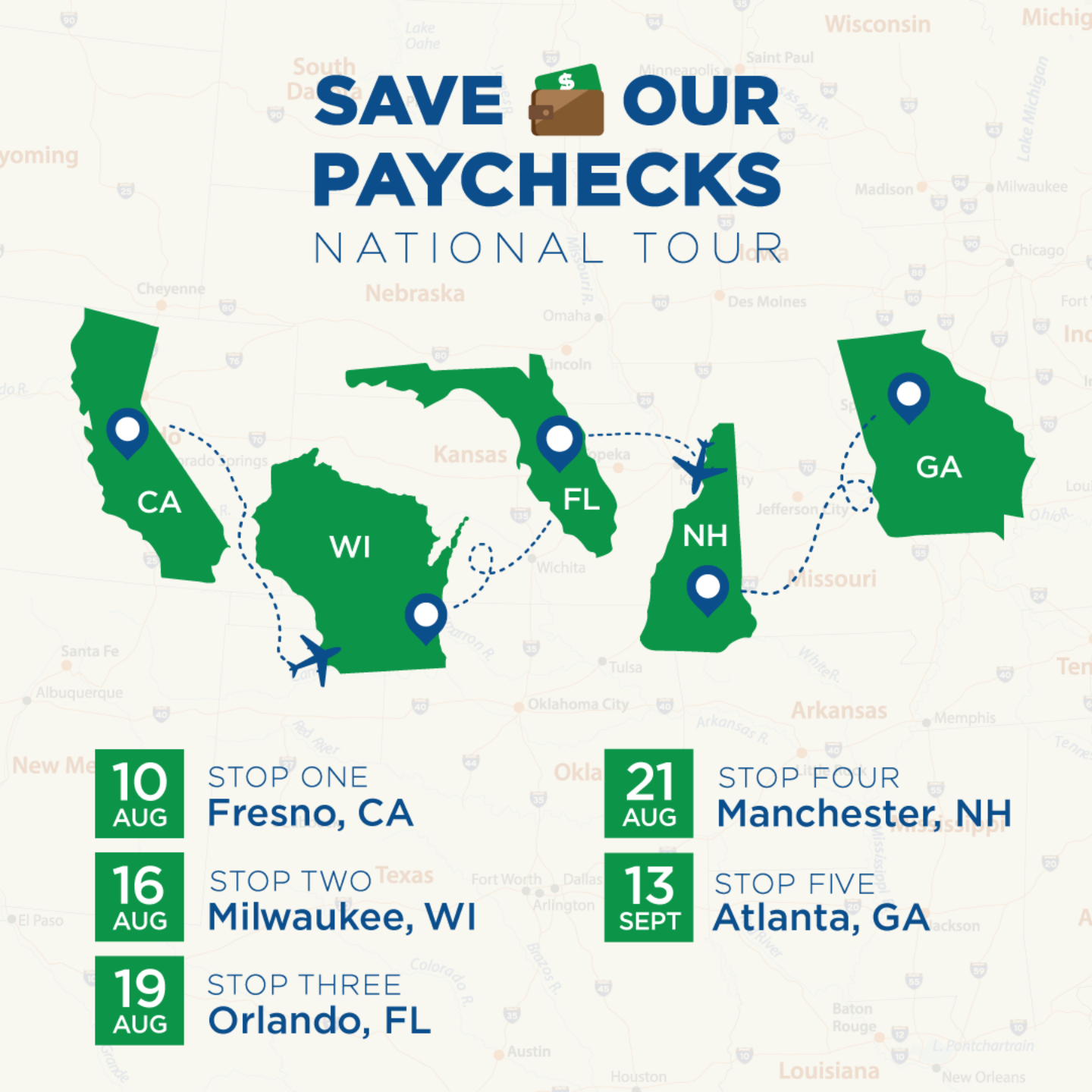 Save Our Paychecks National Tour Promotional