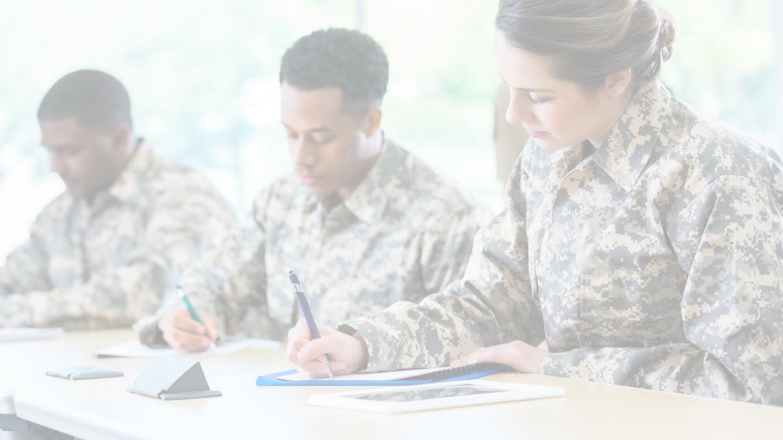 Military education image overlay